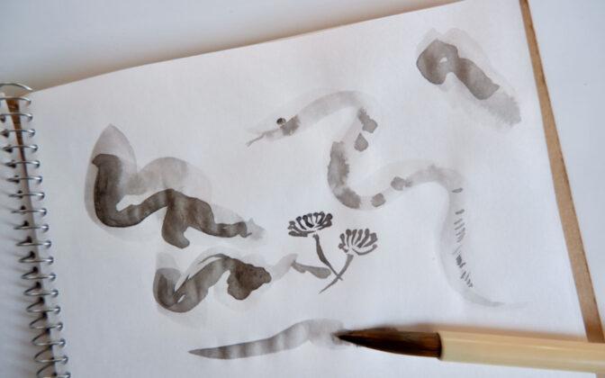 水墨画でアートを始めよう。初心者でも簡単な描き方から作品を飾るまで
