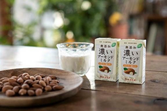 無添加、濃いアーモンドミルク てんさい糖入りが発売!