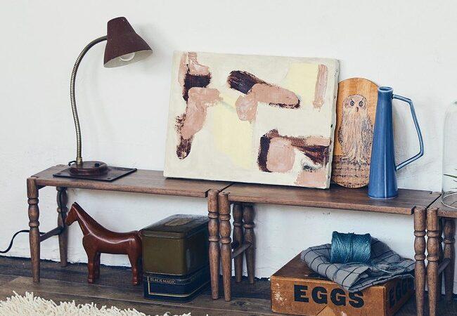 ちょっと置きなら、積み重ねられる木製ラック